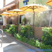 hệ thống phun sương làm mát nhà hàng