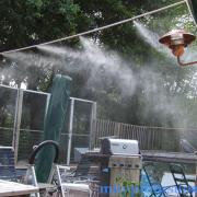 hệ thống phun sương làm mát quán bia