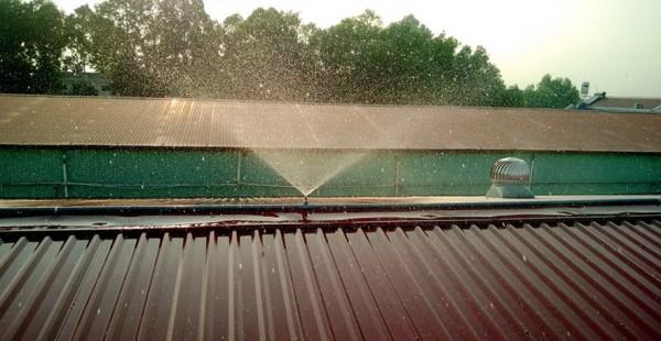 Hệ thống phun sương làm mát mái tôn