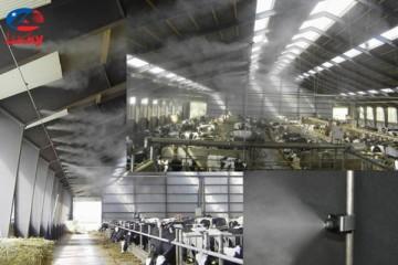 hệ thống phun sương làm mát chuồng trại