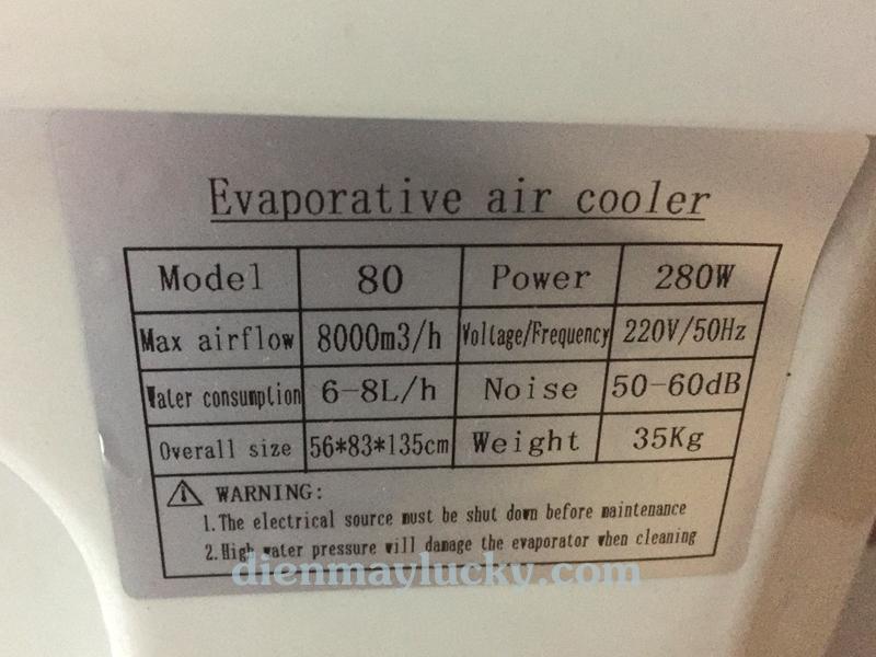 Quạt điều hòa không khí Fujitsu 80 lít - tiết kiệm điện