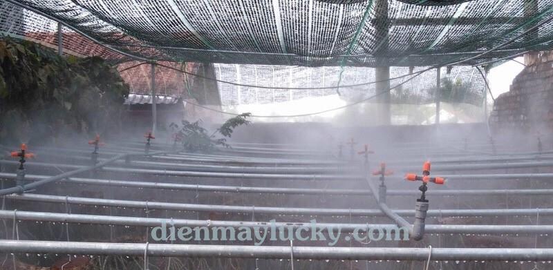 Bộ béc phun sương 5 cửa nhựa tưới nấm